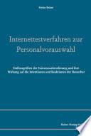 Internettestverfahren zur Personalauswahl