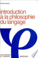 Introduction à la philosophie du langage