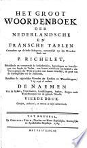 Le Grand Dictionnaire François Et Flamand