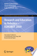 Research and Education in Robotics   EUROBOT 2009 Book PDF