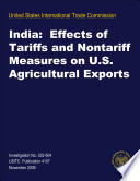 India  Effects of Tariffs and Nontariff Measures on U S  Agricultural Exports