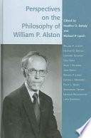 Perspectives on the Philosophy of William P  Alston