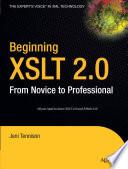 Beginning XSLT 2 0