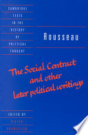 Rousseau   The Social Contract  and Other Later Political Writings