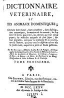 Dictionnaire veterinaire et des animaux domestiques