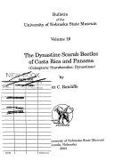 The Dynastine Scarab Beetles of Costa Rica and Panama (Coleoptera: Scarabaeidae: Dynastinae)