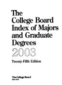 The College Board Index of Majors and Graduate Degrees