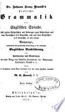 Dr  Johann Franz Arnold s Praktische Grammatik der Englischen Sprache