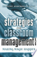 Strategies for Classroom Management  K 6