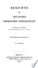 Berichte der Deutschen Chemischen Gesellschaft zu Berlin