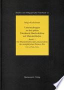 Untersuchungen zu den späten Totenbuch-Handschriften auf Mumienbinden