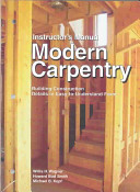 Instructor s Manual for Modern Carpentry