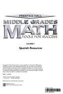 Prentice Hall Middle Grades Math  Course 1