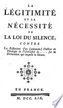 La légitimité de la loi du silence