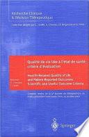 Qualité de vie liée a l'état de santé: critère d'évaluation