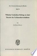 Wilhelm Vershofens Beitrag zu Einer Theorie des Verbraucherverhaltens