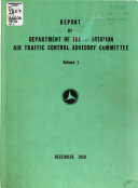 Report of Department of Transportation Air Traffic Control Advisory Committee