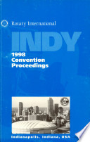 1998 Proceedings  Eighty Ninth Annual Convention of Rotary International