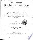 Allgemeines B  cher Lexicon