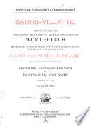 Sachs Villatte dictionnaire encyclop  dique fran  ais allemand et allemand fran  ais