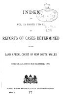 Reports of cases determined in the Land Appeal Court of New South Wales