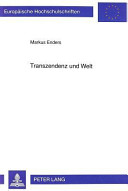 Transzendenz und Welt