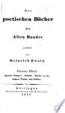 Die poetischen Bücher des Alten Bundes, erklärt von H. Ewald