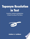 Toponym Resolution in Text