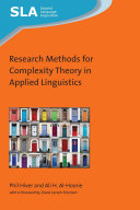 Research Methods for Complexity Theory in Applied Linguistics Book