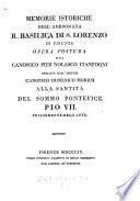 Memorie istoriche della     basilica di San Lorenzo di Firenze  Opera postuma  ed  da Domenico Moreni