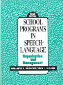 School Programs In Speech Language