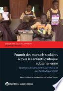 Fournir des manuels scolaires    tous les enfants d Afrique subsaharienne