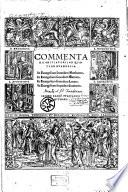 Commentarii Initiatorii In Qvatvor Evangelia