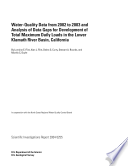 Water quality data from 2002 to 2003 and analysis of data gaps for development of total maximum daily loads in the lower Klamath River basin  California