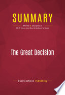 Summary  The Great Decision