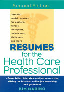Resumes For The Health Care Professional
