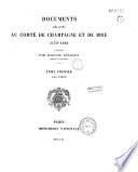 Documents relatifs au Comt   de Champagne et de Brie