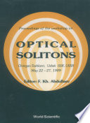 Optical Solitons : of double and raman resonances (a...