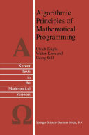 Algorithmic Principles of Mathematical Programming