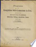 Programm des Königl. Stifts-Gymnasiums in Zeitz0