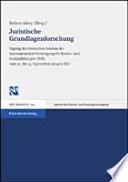 Juristische Grundlagenforschung