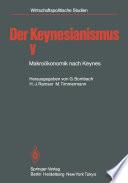 Der Keynesianismus V