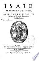 Sainte Bible traduite en fran  ois  avec l explication du sens litteral et du sens spirituel