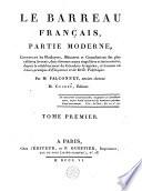 Le barreau français, partie moderne