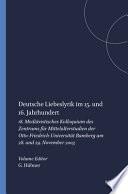 Deutsche Liebeslyrik im 15. und 16. Jahrhundert