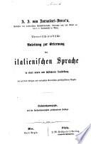 A. J. von Fornasari-Verce's theoretisch-praktische Anleitung zur Erlernung der italienischen Sprache