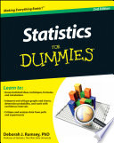 Statistics For Dummies : as statistics for dummies, 2nd edition (9781119293521)....