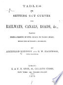 Tables For Setting Out Curves For Railways Canals Roads C