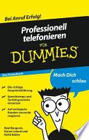 Professionell telefonieren f  r Dummies Das Pocketbuch