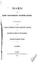Archiv für Österreichische Geschichte
